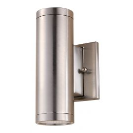 """24W 4"""" Cylinder Brushed Nickel Wall Light"""